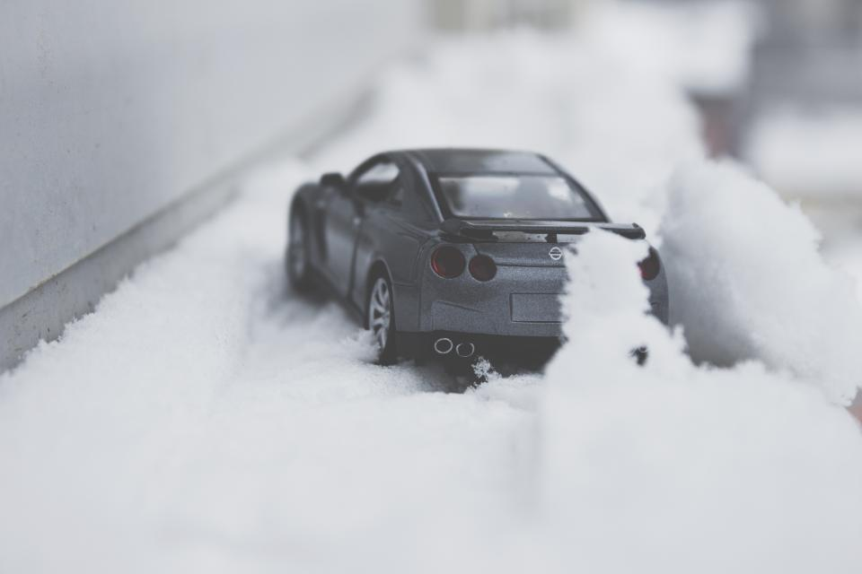car vehicle toy snow winter blur