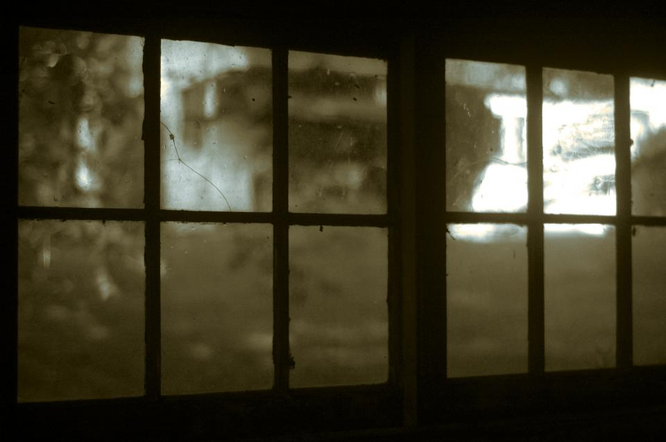 glass windows old crack dark sepia vintage