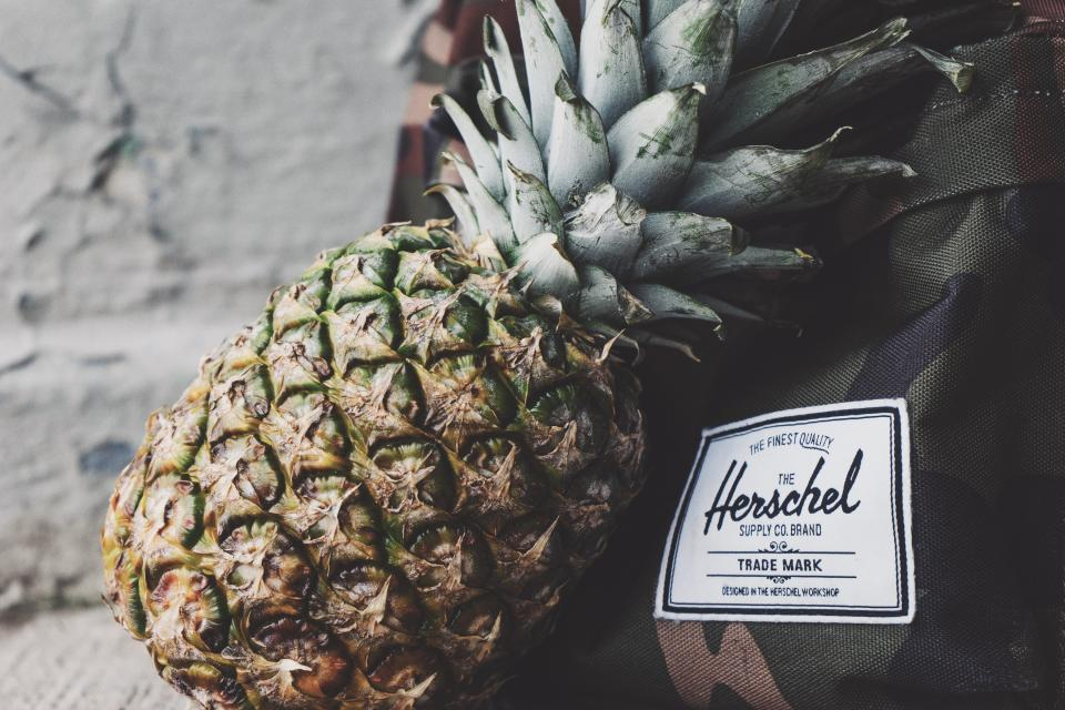 pineapple dessert appetizer fruit juice crop bag herschel