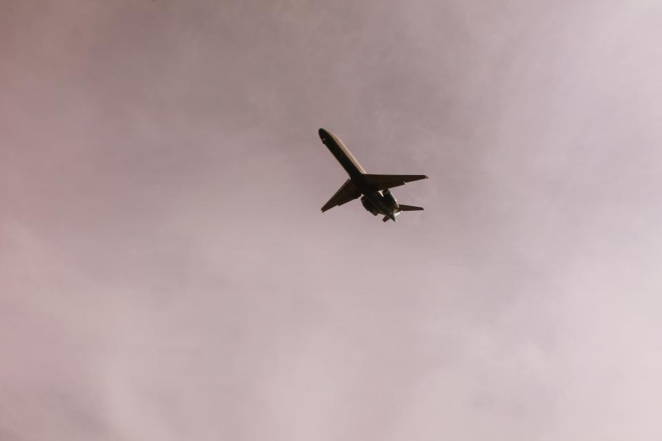 still items things airplane flight fly transportation sky clouds purple