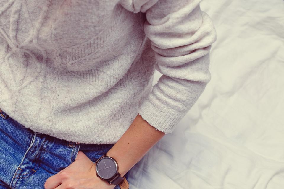 clothes fashion sweater watch jeans people lifestyle