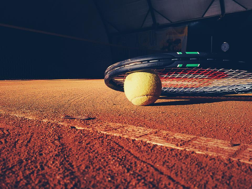 tennis racket court clay ball sports fitness