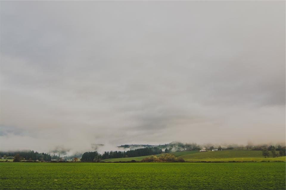 rural countryside fields grass clouds cloudy