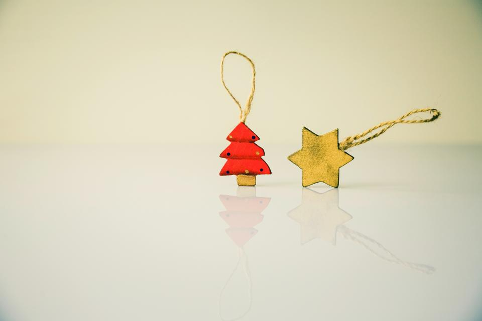 christmas decoration star tree tag ornament