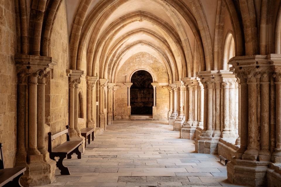 architecture building infrastructure portugal landmark hallway travel