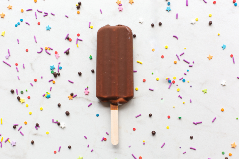 popsicle ice cream sprinkles chocolate dessert snack food colorful party treat tasty close up stars