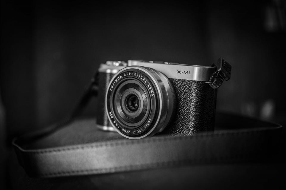 camera lens photography technology objects black and white