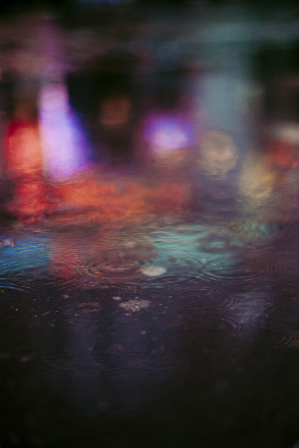 water drop rain colorful urban city