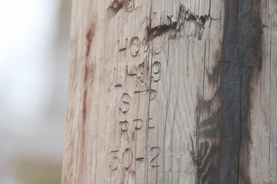 wood post numbers letters writing