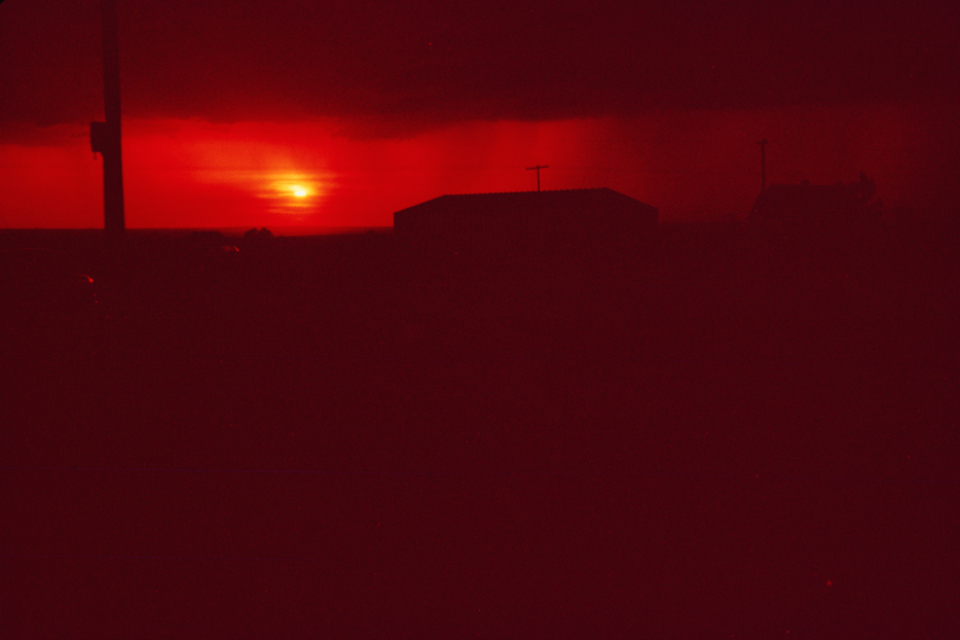 red sunset nature abstract vintage america landscape horizon travel film photography retro usa sky old building silhouette