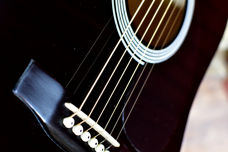 Guitar strings six string acoustic guitar music guitar lover guitar man guitarist black guitar close up macro website web design bavkgrounds