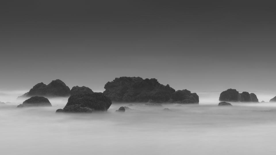 nature landscape fog mountain clouds sky travel adventure aerial black and white monochrome