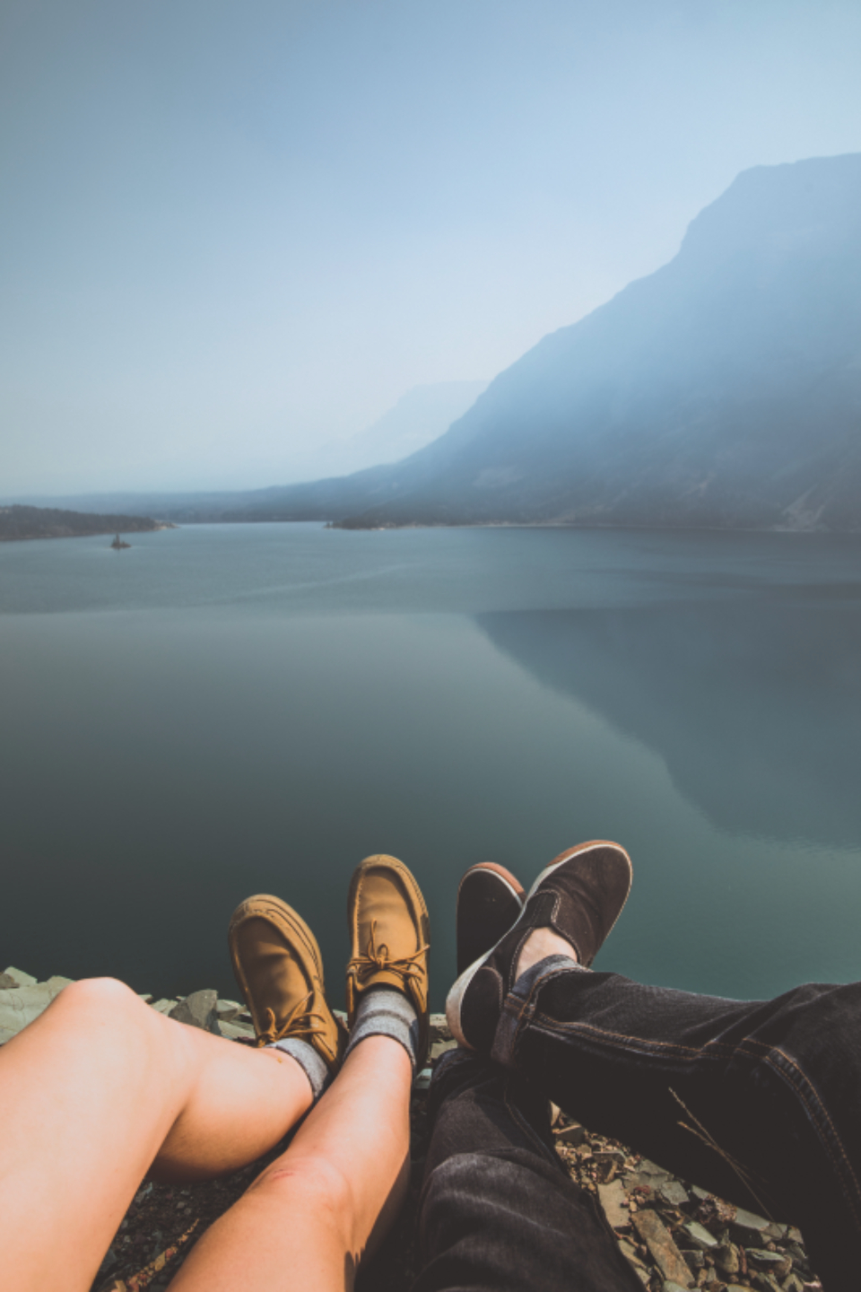 lake mountain mountains earth nature freedom free view shoes feet leg legs couple love cute date vacation