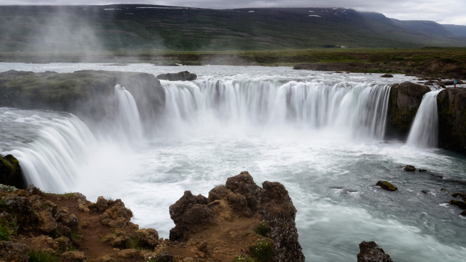waterfall iceland nature water travel icelandic river rocks landscape flowing landscape water scenic travel tourism splash hiking
