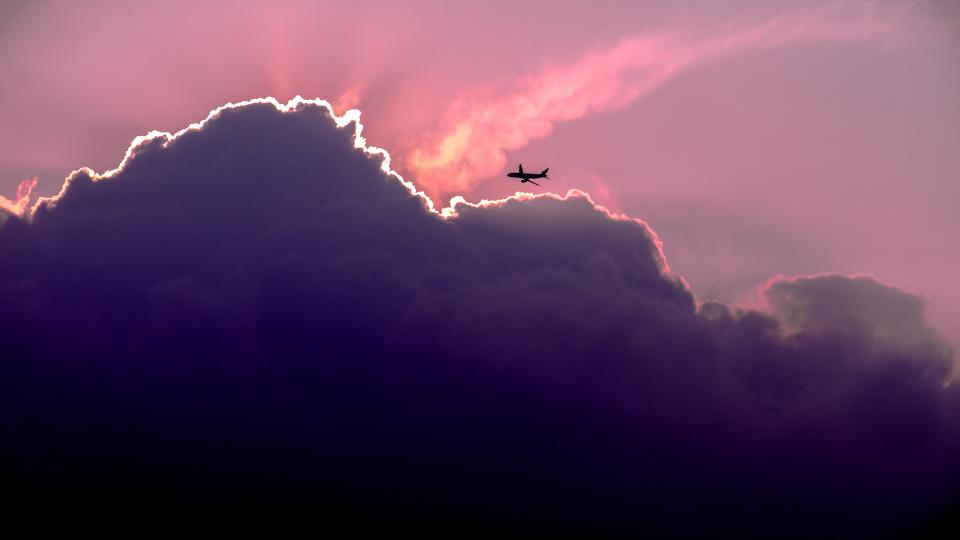 nature landscape airplane clouds sky travel adventure