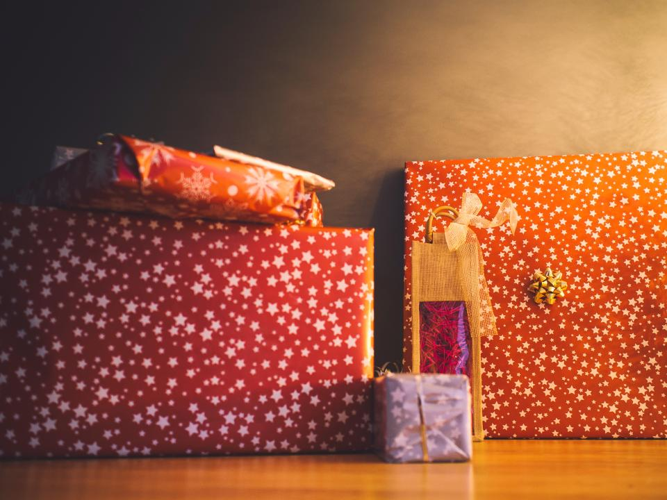 christmas presents gifts wrapping festive holidays