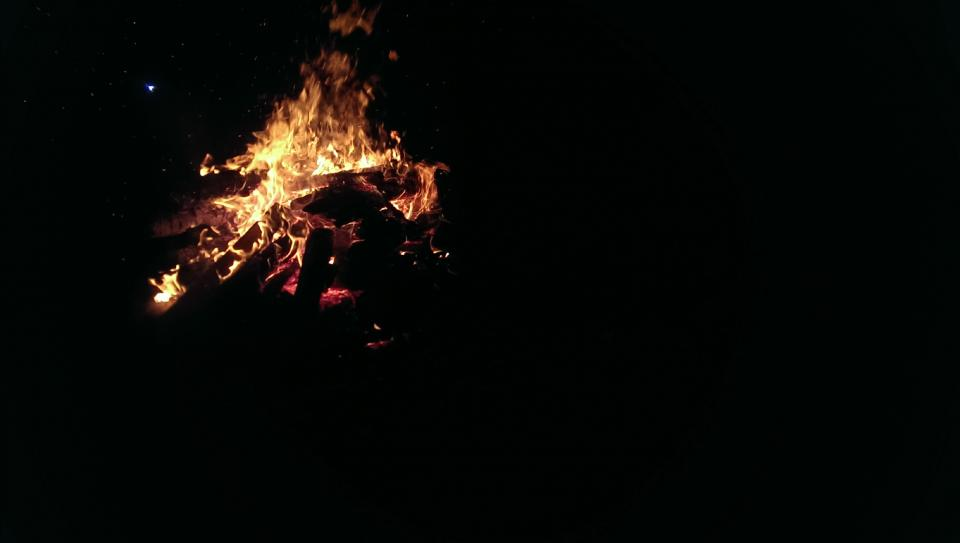 dark night fire flame bonfire hot light firewood