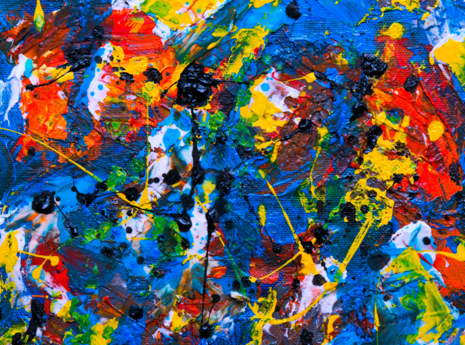 abstract painting art artist canvas brush brushstroke background wallpaper creative design palette multicolor texture acrylic splatter messy colorful oil
