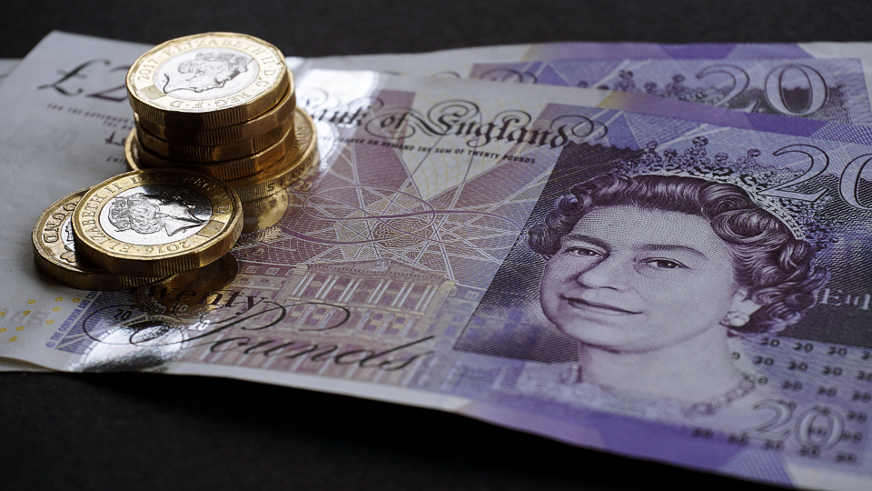 money cash notes coins uk currency