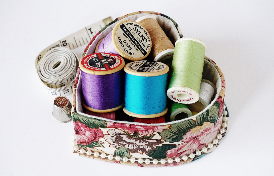 cotton sewing crafts cotton reels vintage sewing thread cotton thread tape measure blue purple green pink