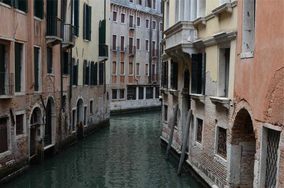 Venice Italy canal water houses apartments buildings architecture