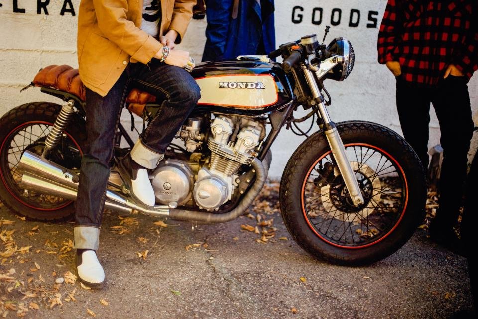 people lifestyle street motorcycles motor shoes honda men urban