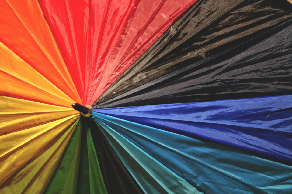umbrella colors rainbow