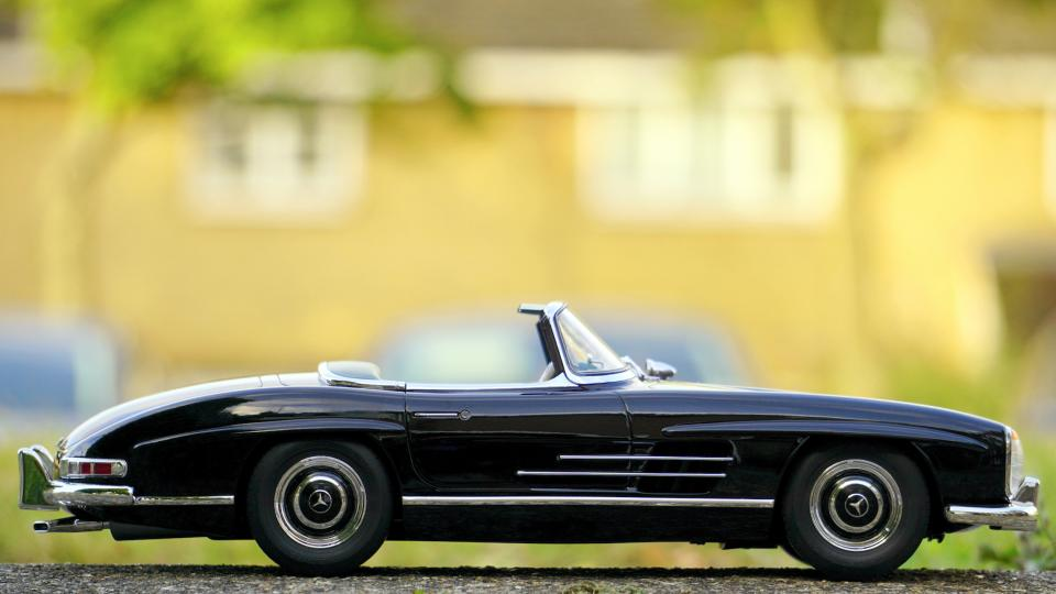 black car convertible toy miniature
