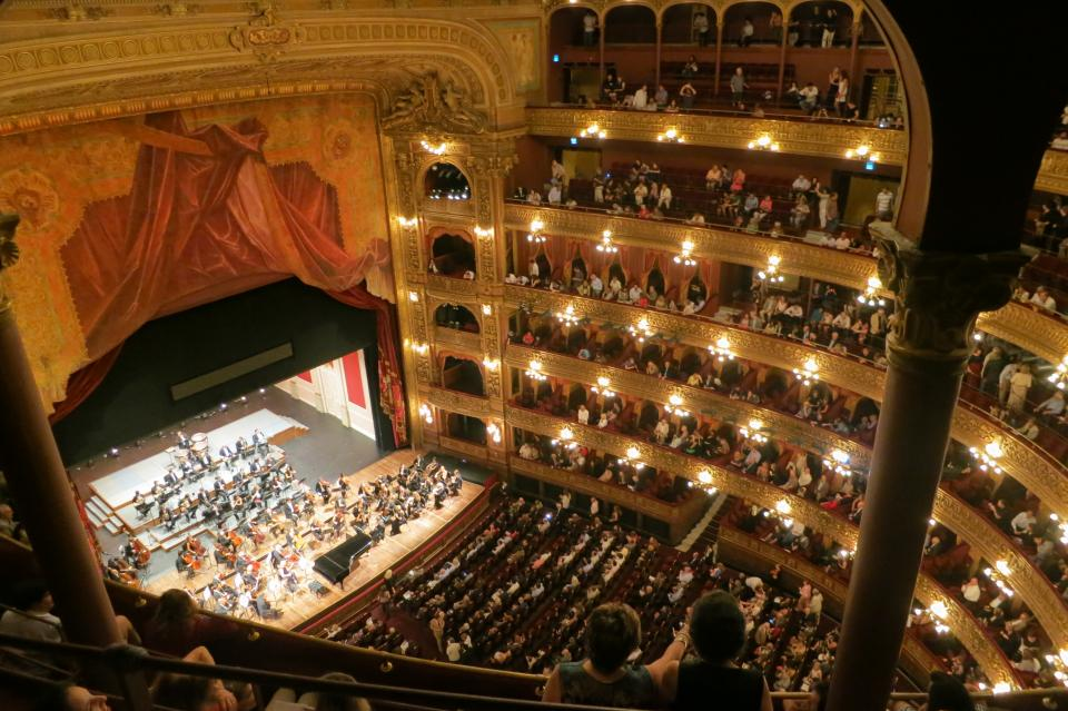 Teatro Colon Buenos Aires Argentina theatre stage seats play art show people spectators crowd