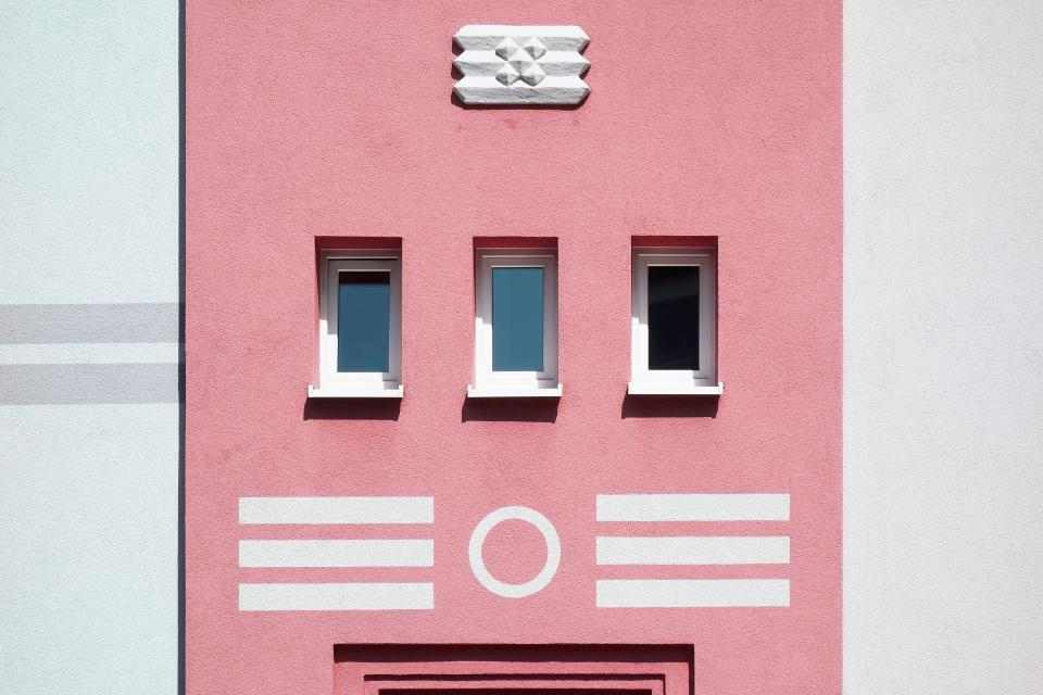 architecture building infrastructure pink wall design