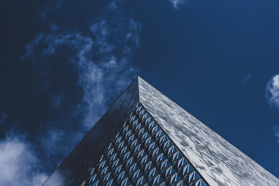 architecture building infrastructure skyscraper blue sky clouds