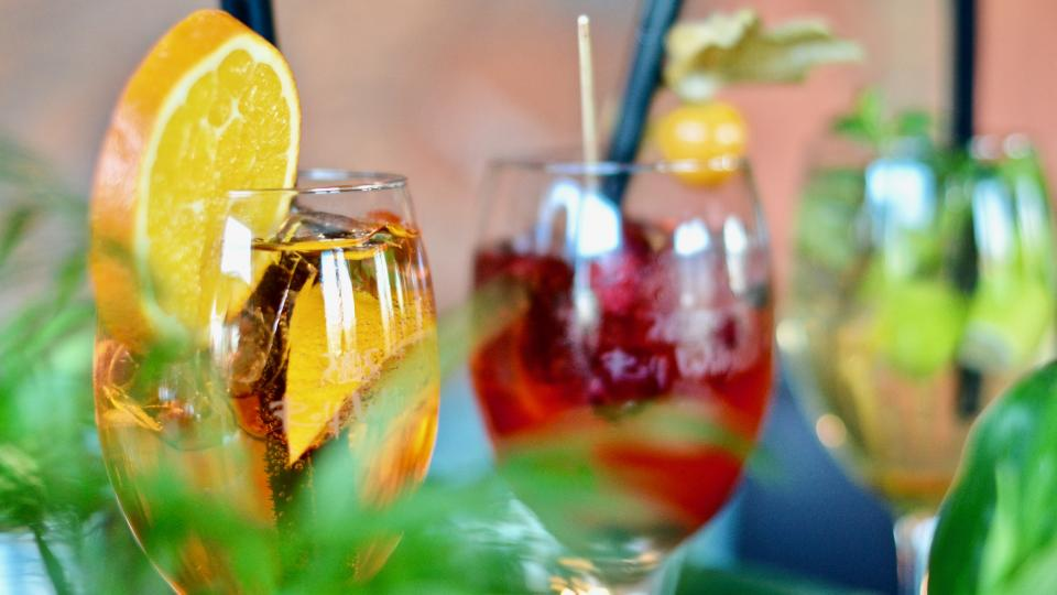 beverages wine glass orange bokeh drinks straw fruit juice bar alcohol
