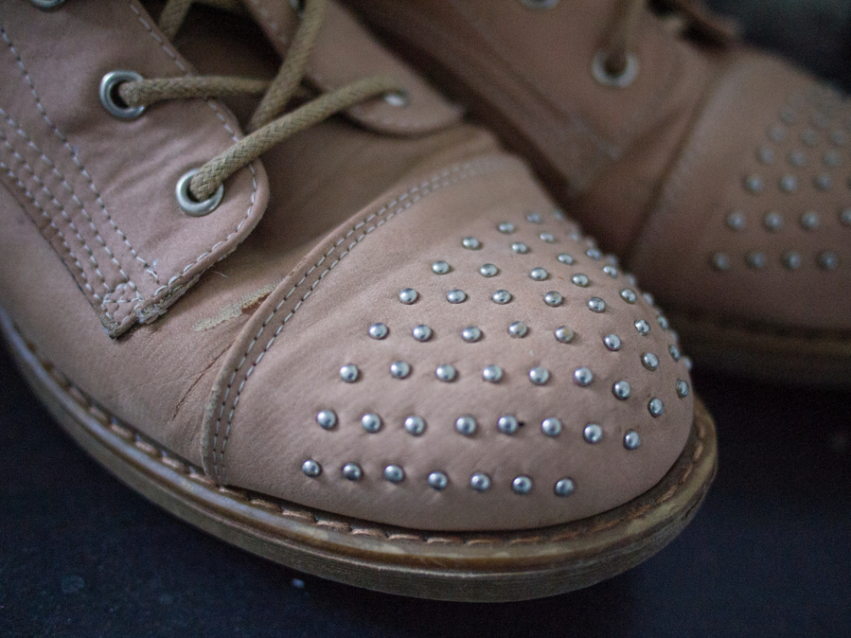 shoes studs fashion laces