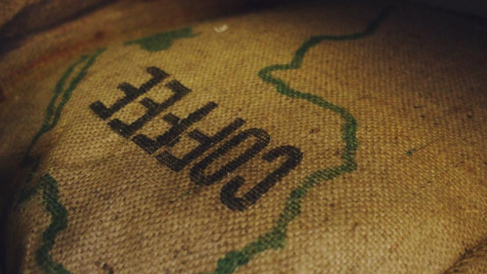 burlap sack bag coffee