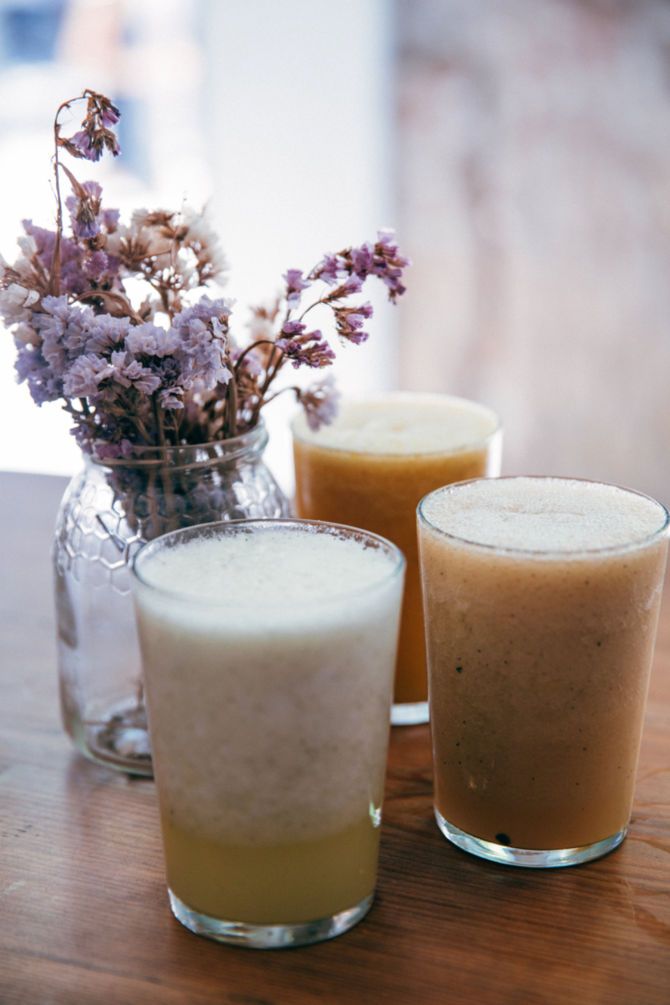 juice smoothy close up fresh healthy diet drink nurtrition snack flowers milkshake food fruit yogurt breakfast cold dessert glass homemade organic refreshment beverage bloom blossom jar table indoors
