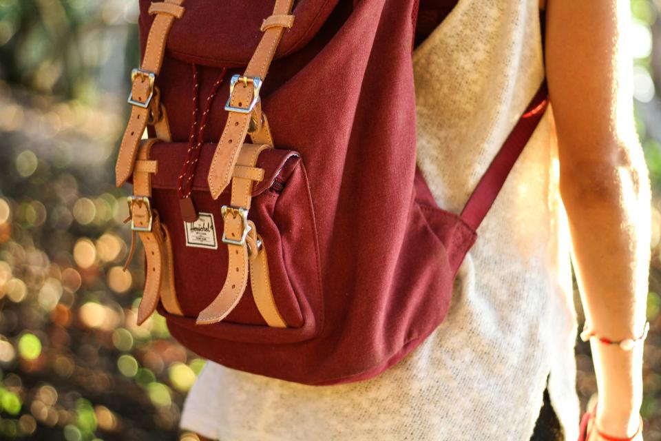 people girl bag backpack clothing fashion bokeh