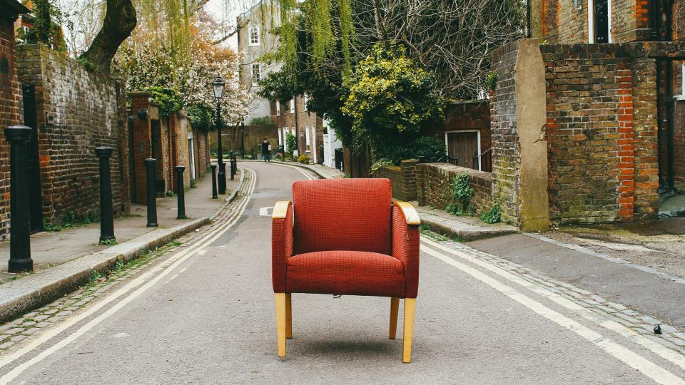 free photo of chair  street