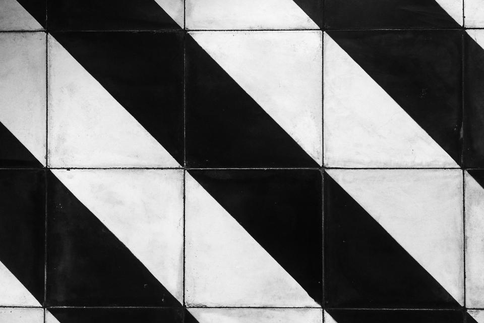 black and white stripes pattern tiles texture design