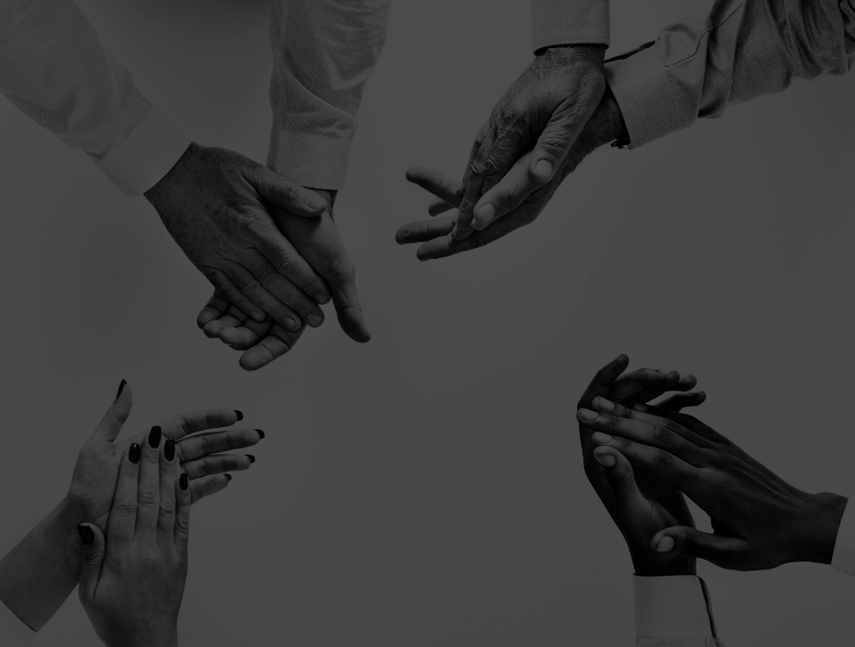 hands clapping applause agreement appreciation approval black and white business cheering collaboration company cooperation creative diversity