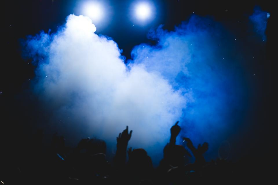 smoke party people dark night celebration concert bar