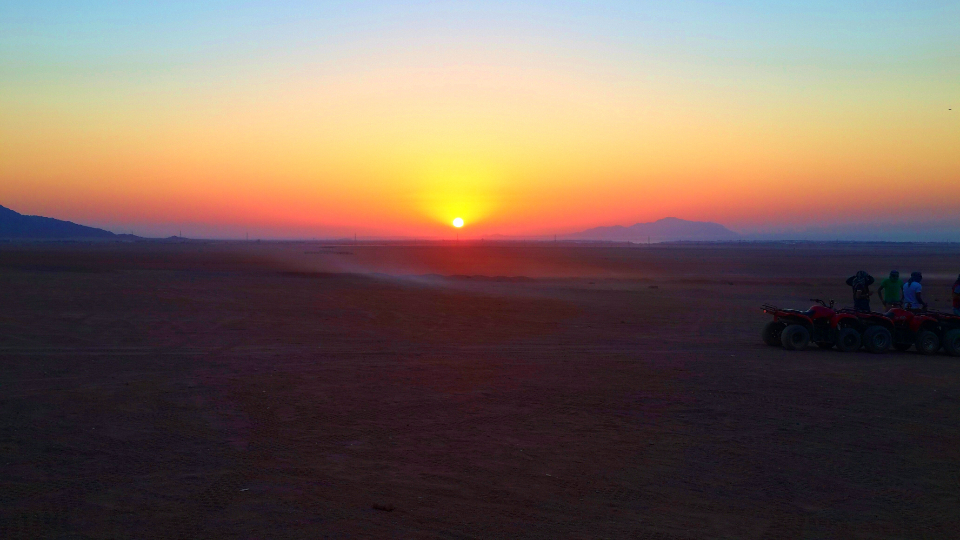 #Sunrise #safari #desert #clearsky