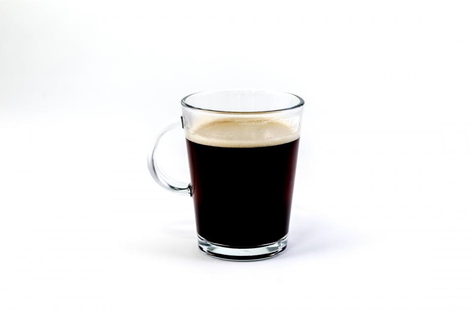 glass brewed coffee hot drinks