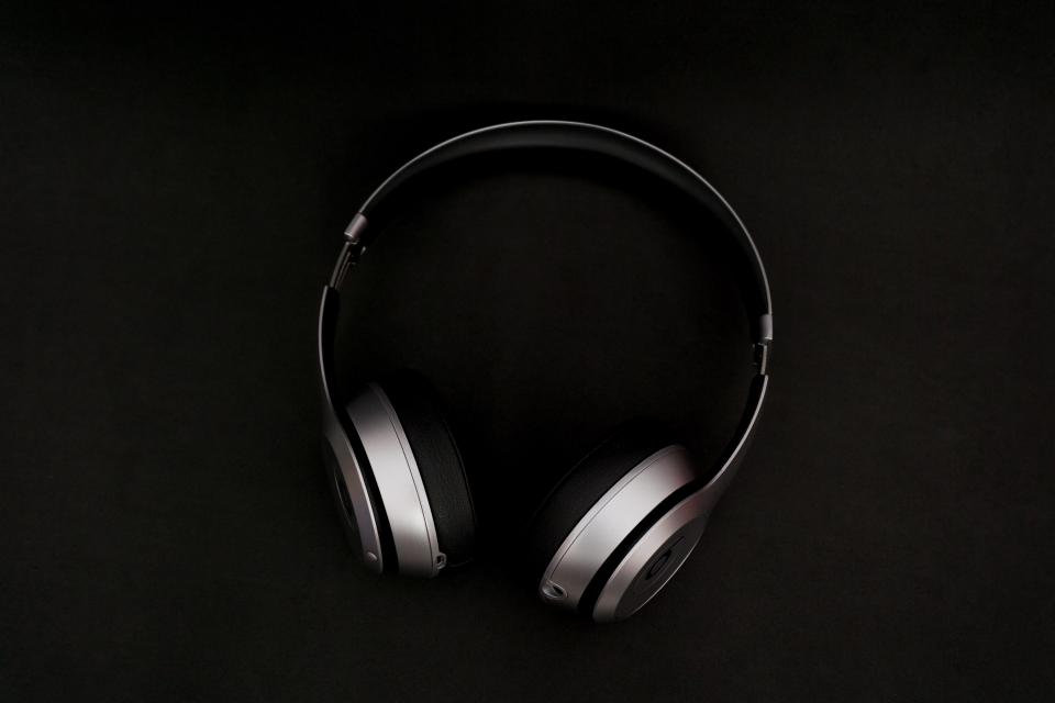 headphones music song foam black playlist band singer wire