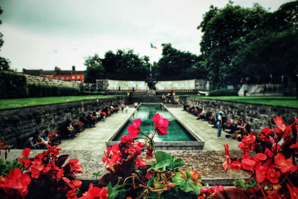Garden of Remembrance Dublin Ireland Irish flag park flowers nature