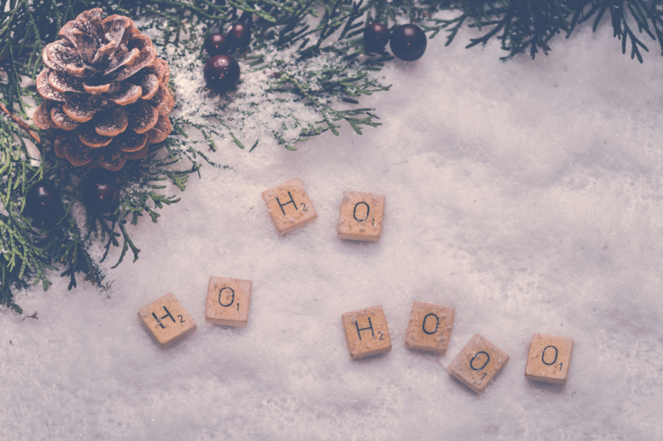 ho-ho scrabble bokeh berries christmas snow white decoration letters lights seasonal festive texture xmas