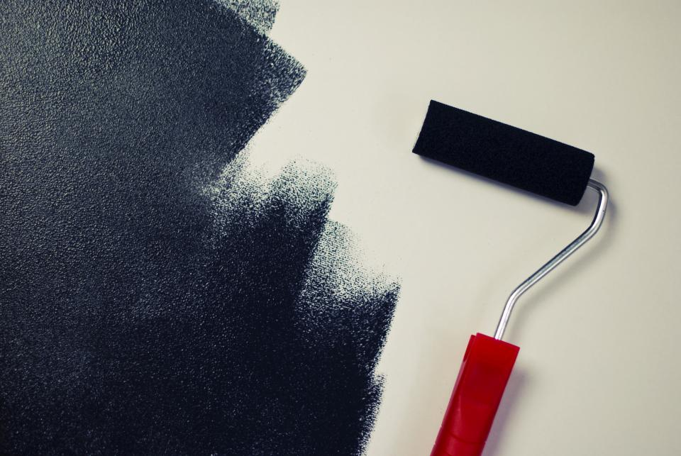 painting paint roller black