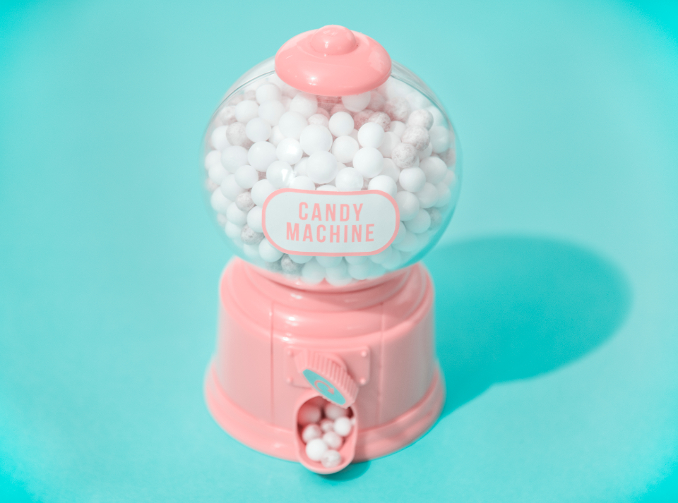 automatically background balls blue bright candy chewing gum children close up closeup colorful decoration foam glossy gum joyful machine painted passion pink playful pop rewind scrolling stuffing sweets tiny tiny foam