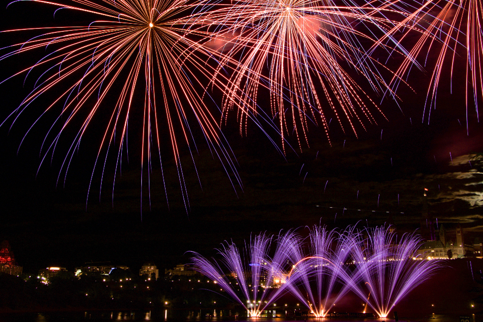 fireworks celebration sky party holiday sparks light burst abstract night new year