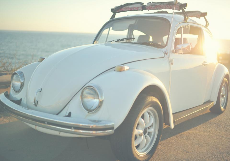 car vehicle transportation old vintage volkswagen travel adventure road sunset