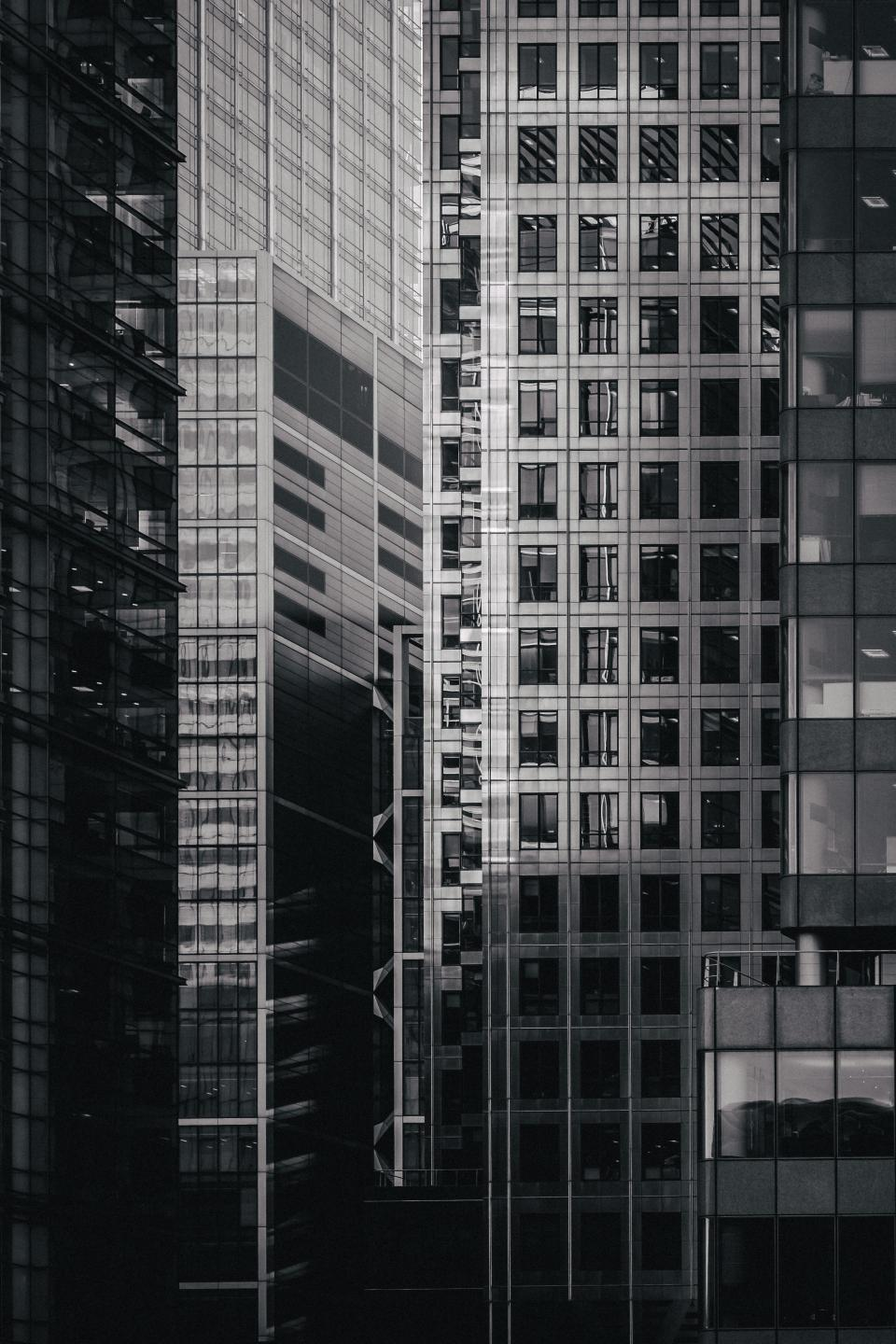 architecture building structure establishment apartment windows condominium hotel black and white monochrome